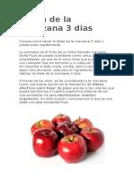 Dieta de La Manzana 3 Dias