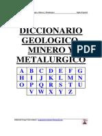 Diccionario Geologico, Minero y Metalurgico Ingles-Español