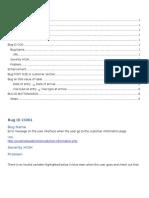Bug Customer Information