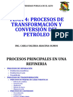 Tema 4 Transformacion y Conversion Del Petroleo