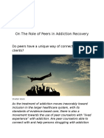 On the Role of Peers in Addiction Recovery