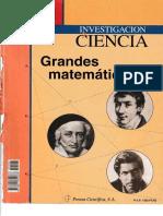 Investigación y Ciencia Temas 01 - Grandes Matemáticos