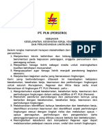 Kebijakan K3 PLN