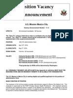 A54 701 Administrative Clerk FSN 6