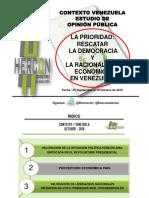 Venezolanos exigen cambio urgente para salir del comunismo y solventar grave crisis madurista (encuesta Hercon)