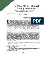 Salvador Diaz Miron y Manuel Jose Othon La Estetica Del Realismo Poetico