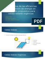 Comparativa de las eficiencias de conversión de energía