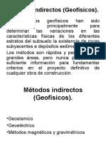 Métodos indirectos (Geofísicos)