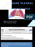 Derrame Pleural Tuberculoso- Habilidades Especiales III - Dr. Ordoñez