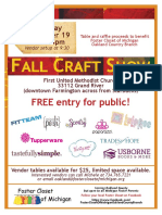 FALL CRAFT SHOW Flyer for Foster Closet 2016