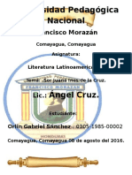 Análisis Literario Sor Juana Inés de La Cruz .