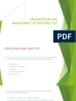 Organization and Management of Mas Practice