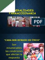 GERENRALIDADES FARMACODINAMIA