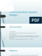 Communication System Design