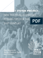 Alperovitz et al - The Next System Project