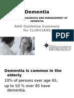 Dementia Guideline AAN