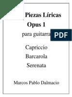 Frontispicio - Tres Piezas Líricas Opus 1 - Marcos Pablo Dalmacio