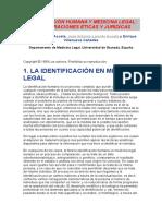 Identificación Humana y Medicina Legal
