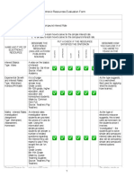 Electronic Resources Evaluation Form