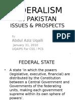 3) Federalism