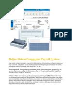 Aplikasi Sistem Penggajian Payroll System