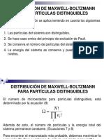 Distribución de Maxwell-Boltzmann Para Partículas Distinguibles