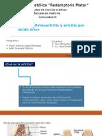 Artritis, Osteartritos Por Acido Urico