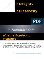 Academic Integrity for TDSSSFD 5-15-13