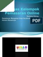 Tugas Kelompok Pemasaran Online