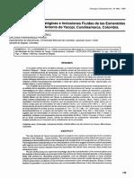 Caracteristicas Mineralogicas e Inclusiones Fluidas de Las Esmeraldas
