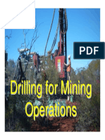 Drilling for Mining Operation
