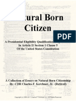 Natural Born Citizen to Constitutional Standards - Some Writings About Same by CDR Charles F. Kerchner, Jr. (Ret)