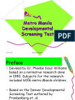 Metro Manila Developmental Screening Test Fin