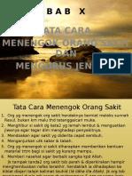 Bab Ix Tata Cara Menengok Org Sakot Dan Menegok Jenazah