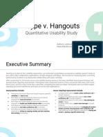 Google Hangouts v Skype Comparative Usability Study