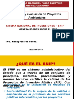 Generalidades sobre el SNIP