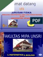 Jurusan Fisika Fmipa Unsri