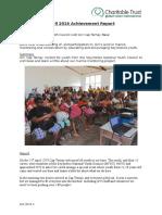 Cap Ternay Achievement Report April 2016