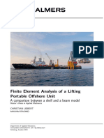 218963 Finite Element Analysis of a Lifting Portable Offshore Unit