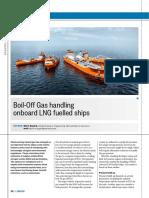 Boil-Off Gas Handling Onboard LNG Fuelled Ships
