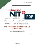 """Ejemplo de Interpretación """"Test Del Animal y de La Identidad"""""""