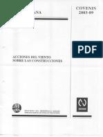 Acciones Del Viento Contra Edificaciones Covenin 2003-89