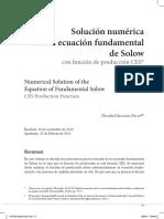 Solucionar ecuación de Solow con CES