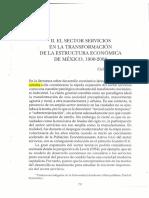 El sector servicios en México 1900-2003