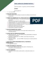 Cuestionario Derecho Administrativo i