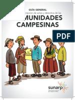 Guia Campesina Castellano Sunarp Comunidades Campesinas