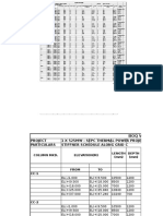 Column C Schedule Along Grid C
