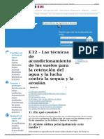 E12 - Las Técnicas de Acondicionamiento de Los Suelos Para l