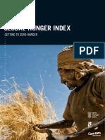 Global Hunger Index 2016