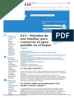 E15 - Métodos de Uso Familiar Para Conservar El Agua Potable